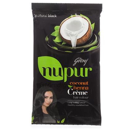 Nupur Henna Natural Black Creme Hair Colour Godrej 20 Gm At Rs 39 00